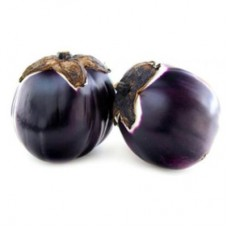 Organic Small Round Eggplant(purple)